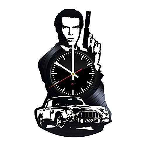 Fun Door James Bond HANDMADE Vinyl Record Wall Clock – Perfect gifts for birthday wedding anniversary valentine's mother's father's day - Gift ideas for men and women him and (James Bond Girls Costumes)