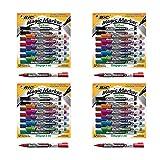 BIC Magic Marker Brand Dry Erase Marker, Fine Bullet Tip, Assorted Colors, 12-Count (4 Pack)