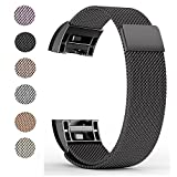 for Fitbit Charge 2 Bands, Soulen Stainless Steel Replacement Accessory Band for Fitbit Charge 2 Band/Charge 2 Bands/Fitbit Charge 2 Small Large