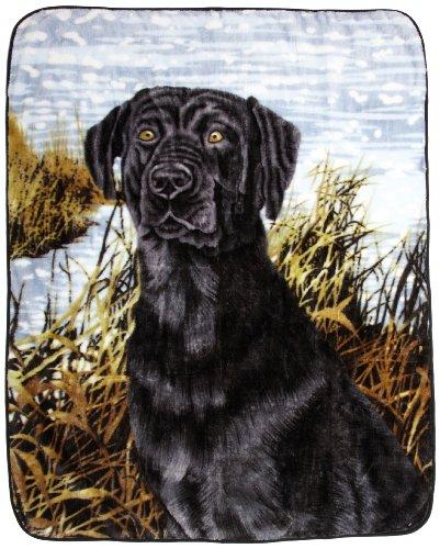 Northpoint Printed Raschel Animal Throw, Labrador (Black Lab Throw)