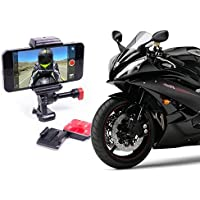 Helmet & Motorcycle Adhesive Cell Phone Mount Holder Made for Action POV Videos & GPS