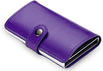 Automatic Smart Wallets - Anti-Theft 12 Cards Capacity - Purple