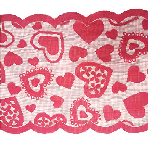 Beautiful Lace Fabric Tablecloth Casual Party Shop Party Table Cloth Decor Accessories (Red) by Sexyp-dress (Image #5)