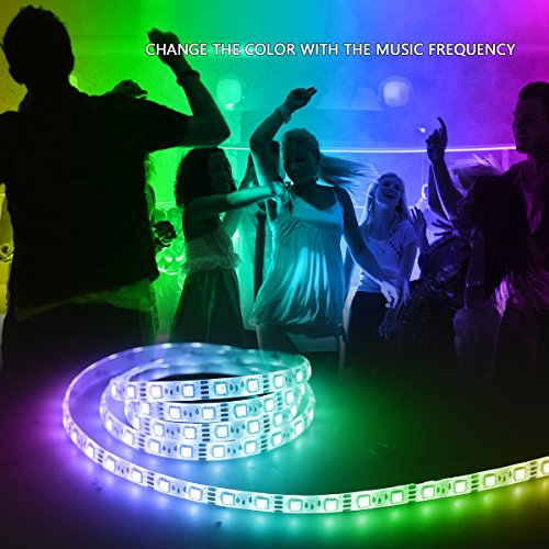 music led strip lights 66ft2m 5v usb powered light strip 5050 rgb light color changing with music ip65 waterproof led lights