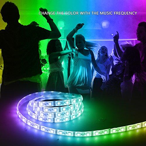 music led strip lights 66ft2m 5v usb powered light strip 5050 rgb light color changing with music ip65 waterproof led lights