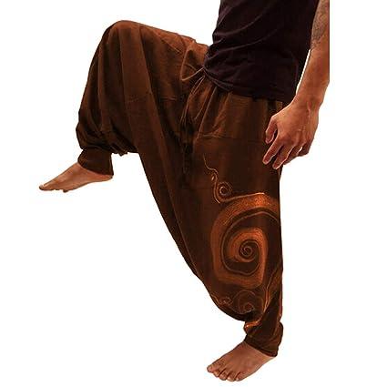 Pantalones Hombre,Modaworld Pantalones De Yoga Deportivos para Hombre De Estilo Étnico Estampado