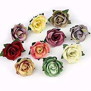 FLOWER 3cm Mini Rose Head Artificial for Wedding Decoration Ball Craft Fake 30pieces/lot 2