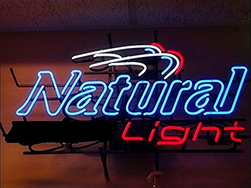 Urby™ Natural Light Real Glass Neon Light Sign Home Beer Bar Pub Recreation Room Game Room Windows Garage Wall Sign 18''x14'' A12-02