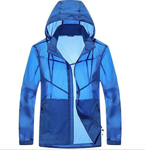 A A A Giacca Contro UPF30 Blue Essiccazione Vento Pelle Maschile Maschile Maschile Outdoor Sottile Wq06CHPw
