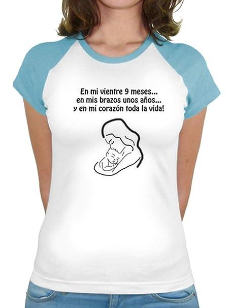 latostadora - Camiseta Embarazada Amor para Mujer Turquesa XL: info: Amazon.es: Ropa y accesorios