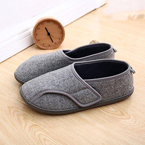 Fankou autunno inverno cotone spesso gli uomini e le donne di casa home il cotone pantofole casa calda pantofole pavimento coperto di acqua, (37-38), la rosa