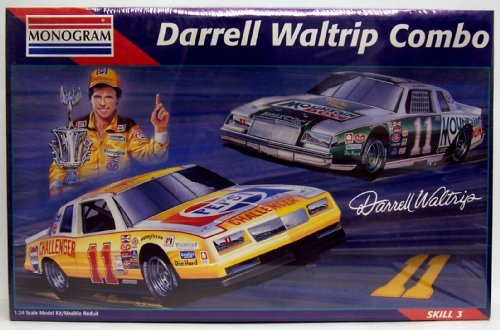 Monogram #6391 Darrell Waltrip #11 Racing Combo - 2 1:24 Plastic Model Car Kits