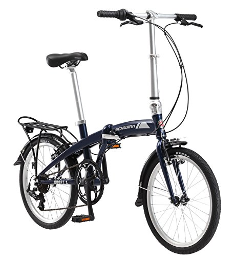 Schwinn Adapt 1 7 Speed Folding Bike, Gloss Navy, 16''/One Size/20'' by Schwinn