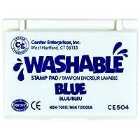 Almohadilla de sello lavable azul por Center Enterprises