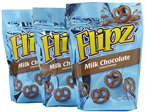 Flipz Milk Chocolate Covered Pretzels 5 Oz - 3 ()