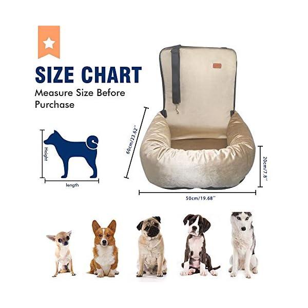 51EqXpZw4wL ZEEXIPDR Autositz für Hunde,Autositze für Haustiere,Der hochwertige Hundesitz bietet eine komfortable und sichere…