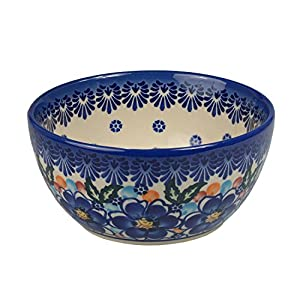 BCV Classic Boleslawiec Pottery Hand Painted Ceramic Bowl 350ml, 071 (U-097)
