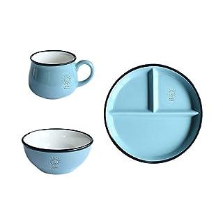 WY-Tong Vajilla De Cerámica (3 *), Plato Redondo Desayuno Cena Platos para Cocinar Lavavajillas Ligero Microondas Caja Fuerte Fiesta Sin Hogar BPA (Color : C#)