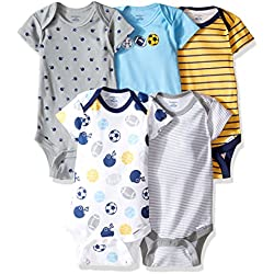 eaa85eb49 Gerber Baby Boys' 5 Pack Onesies, Multi-Sport, 3-6 Months