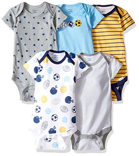 Gerber Baby Boys' 5-Pack Variety Onesies Bodysuits, Multisport, 3-6 Months