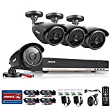 Annke 1080N AHD DVR/1080P NVR Security System with 1TB Hard Drive and (4) 1.0MP 1280TVL Weatherproof CCTV Cameras Super Night Vision, P2P/QR Code Scan, Easy Setup