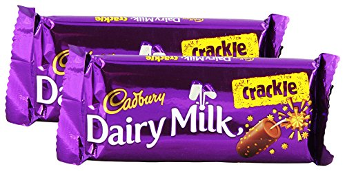 Cadbury Dairy Milk Crackle Chocolate Bar, 36 grams (1.26 oz) - India (Vegetarian) (Pack of 2)