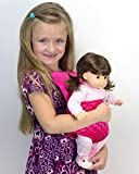 Sophia's Doll Carrier for 15 Inch Baby or 18 Inch Dolls, Soft Hot Pink Front Carrier with Straps