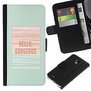 iBinBang / Flip Funda de Cuero Case Cover - Trullo poster Verano - Samsung Galaxy S4 Mini i9190 MINI VERSION!