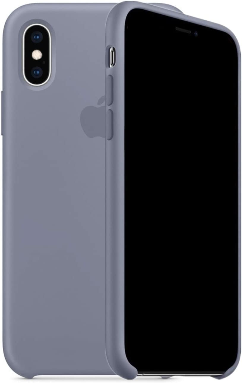 Mespirit Silicone Case Compatible for iPhone Xs Max, Liquid Silicone Non-Slip and Drop-Proof Simple Style Compatible with iPhone Xs Max - 6.5 inch (Lavender Gray)