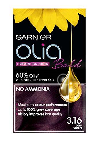 Garnier Olia Permanent Hair Dye, 3.16 Deep Violet