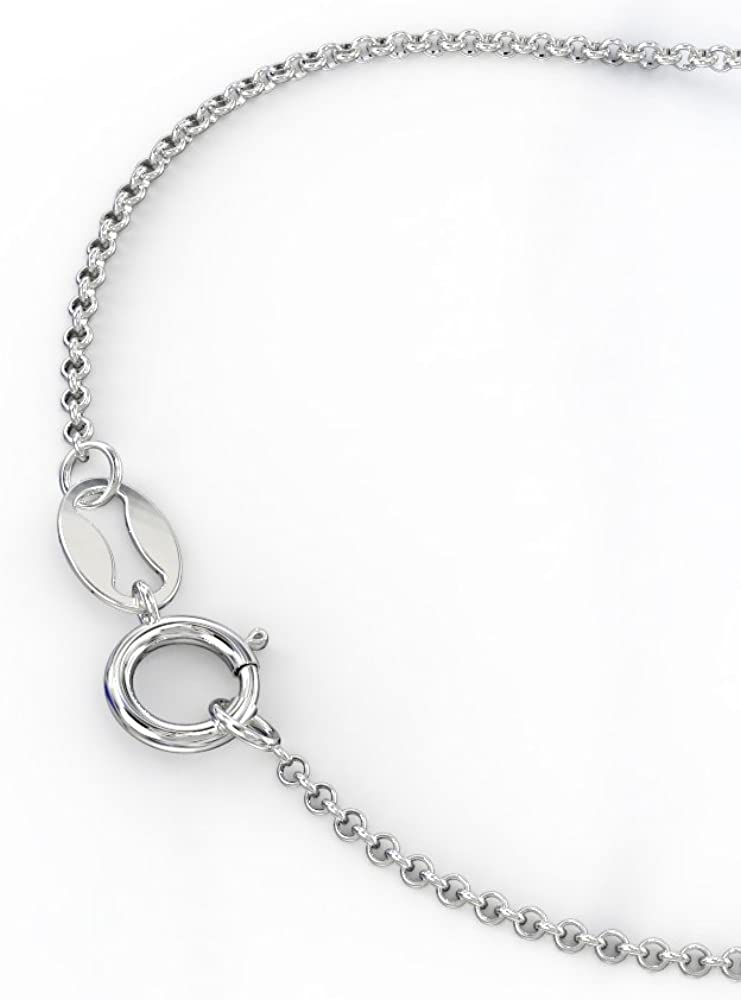 14K Gold Interlocked In Love Heart Name Necklace by JEWLR JN340/_14KY/_18