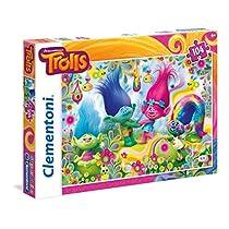 Clementoni - Puzzle 104 Piezas Cupcakes&Rainbows Trolls (27967.8)