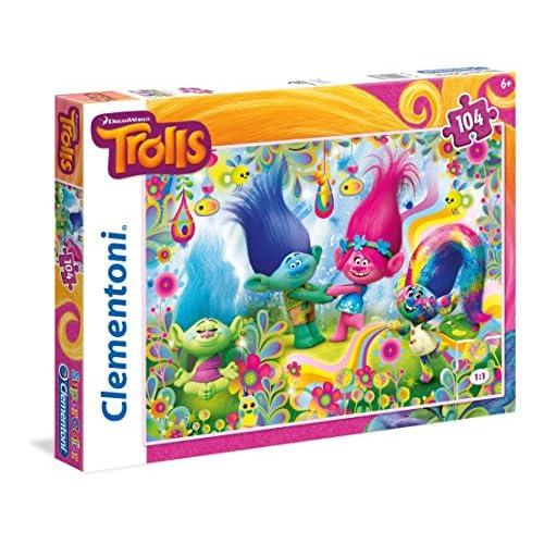 Clementoni 27967-Puzzle 104p - Trolls-Puzzles