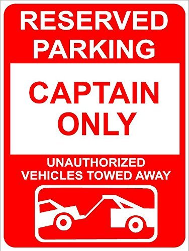 weewen Captain Reserved Parking Only Family Name Aluminum Sign Metal Gift Sign Wall Plaque Decoration