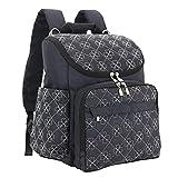 BURNING SECRET Women Men Diaper Bag Stylish 12 Pockets Travel Designer Baby Backpack