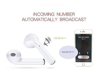 LJXAN TWS de Auriculares Bluetooth con Caja de Carga Auriculares inalámbricos biauriculares Bluetooth Deportes Auriculares de oído de Oreja de Trigo Mini ...