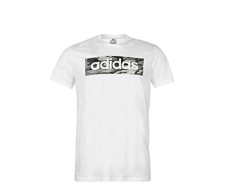 80e588037740 adidas Mens T Shirt Camo Linear T Shirt Mens Short Sleeve Top White S-XXL