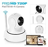 iHome Fusion Home Security Camera, Wireless IP Camera Surveillance System Video Baby Monitor, Two-Way Audio, Night Vision, Motion Detection WiFi Camera + Free 62GB Micro SD Card (White)