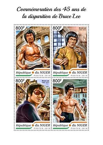 Niger - 2018 Actor Bruce Lee - 4 Stamp Sheet - NIG18413a