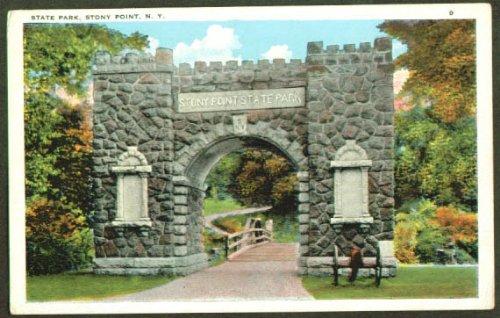 State Park at Stony Point NY postcard - Stony Point Park