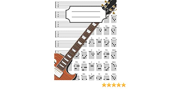 Guitar Tab Notebook: 100+ Guitar Chord and Tablature Writing Paper ...