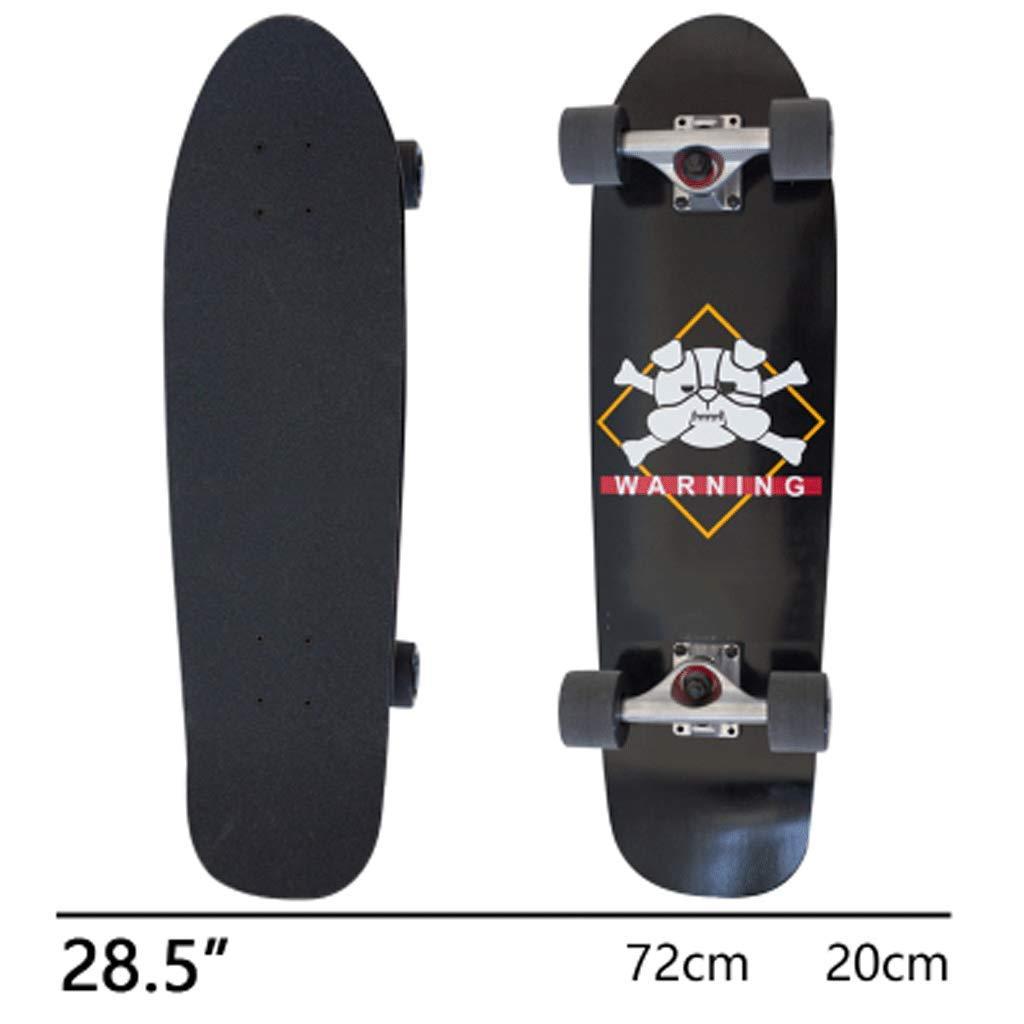 世界的に 初心者の子供のストリートスキル旅行スケートボードショートボード魚プレートメープル大きな魚ボードプロフェッショナル (色 黒 (色 : 白) B07KW458T7 黒 B07KW458T7 黒, メンズショップオオシマ:aabc4f95 --- senas.4x4.lt