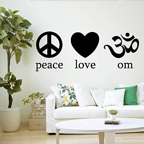 ganlanshu Tatuajes de Pared Paz Amor Yoga símbolo Mente ...
