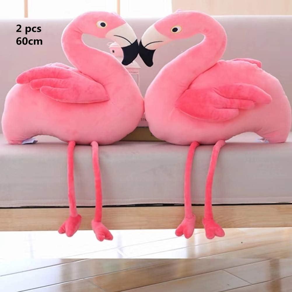 juguete de peluche para ni/ños decoraci/ón de fondo de chupito de regalo rosa rosa Talla:double regalo para ni/ñas Peluche de flamenco de 60 cm de Stangent