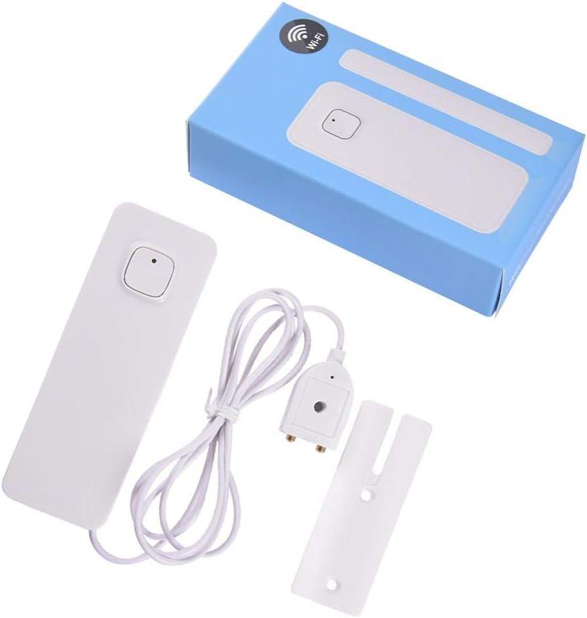 Shoh Alarme de Fuite deau USB Rechargeable Smart Mobile T/él/écommande Connexion WiFi D/étecteur de d/ébordement avec Alarme Anti-Fuite pour Salle de Bain Cuisine