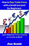 How to Day Trade Forex with a Small Account for Beginners: Learn Beginner Forex Trading on as little as 0