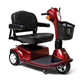 Pride Mobility - Maxima - Heavy Duty Scooter - 3-Wheel Scooter - Candy Apple Red - PHILLIPS POWER PACKAGE TM - TO $500 VALUE