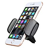 Car Phone Holder, AEDILYS Air Vent Car Mount Phone Holder with 360° Rotation for iphone x / iPhone 8 / 7/7 Plus/6S/6 Plus 5S SE, Samsung Galaxy S7/S6 edge/S6/S8 (Black) (Black)
