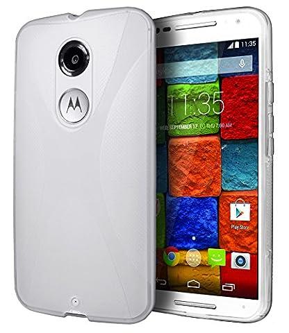 Motorola Moto X (2nd Generation) Case, Cimo [Wave] Premium Slim TPU Flexible Soft Case For Motorola Moto X (2nd Generation, 2014) - (Motorola X Clear Cover)