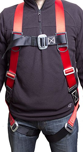 Gulfe Warehouse Adjustable Safety Harness Full-Body Picker w/ Pass Through Legs Black/Blue by Gulfe (Image #2)